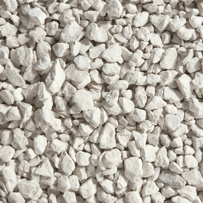 Graviers Pierre Naturelle Blanc Calcaire 6 16mm 25 Kg Calcaire