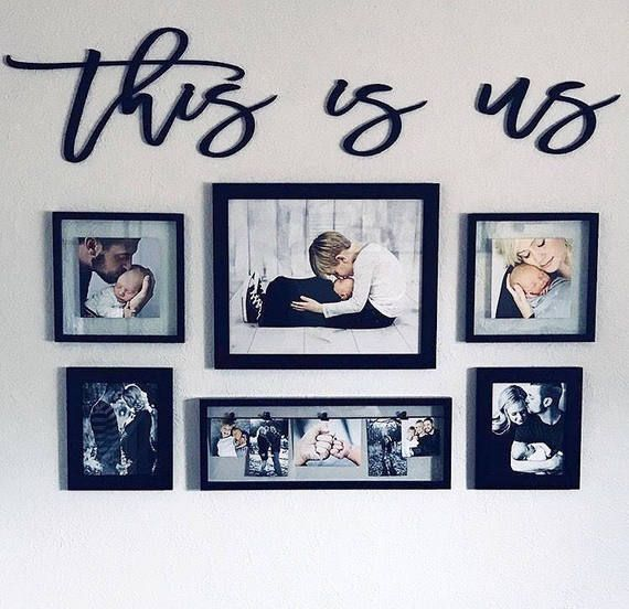 This is us, wood words, wood word cut out, laser cut in 2018 | Home ...