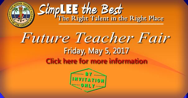 Banner for Future Teacher Fair