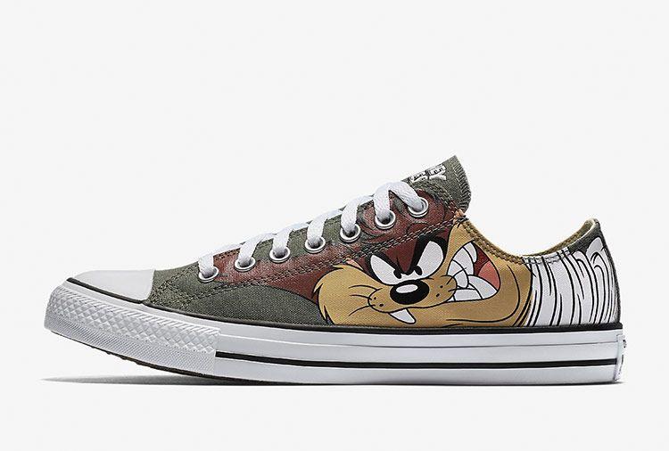 21d44c6f33e Converse Chuck Taylor Looney Tunes Tasmanian Devil Green Low Shoes #converse  #shoes