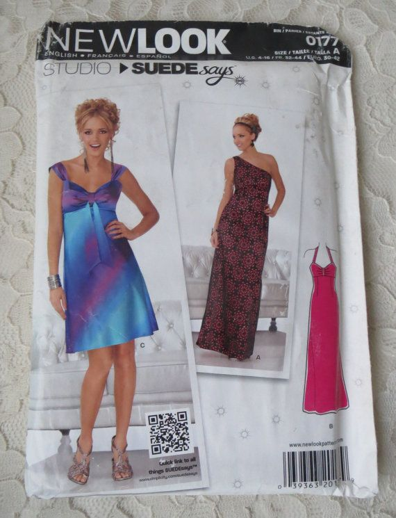 New Look 0177 Sewing Pattern Evening Cocktail Dress With Variations