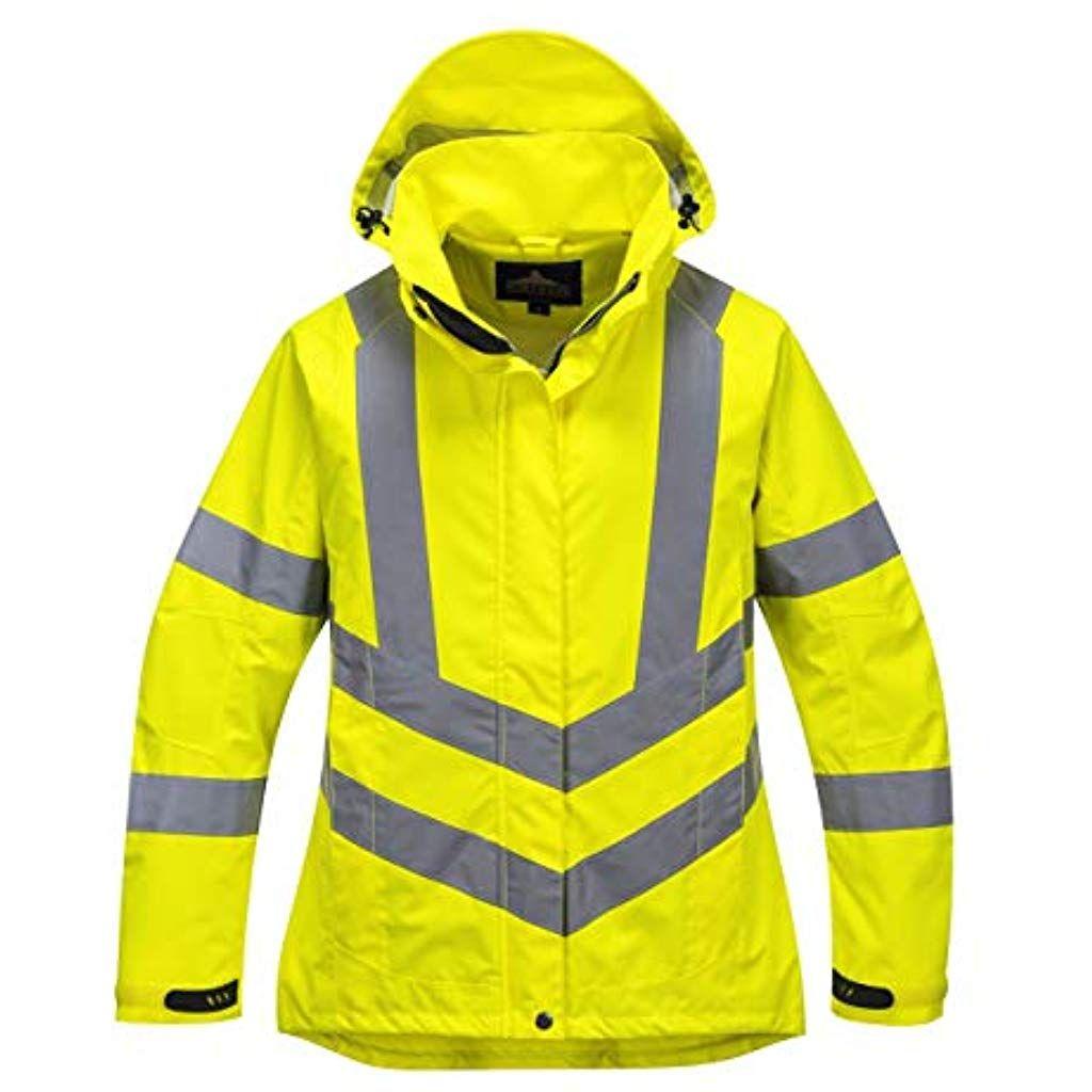 Lw70 Womens High Visibility Hi Vis Waterproof Jacket Women Womenshealth Womensbest Women Ssuffrage Breathable Jacket Jackets Lightweight Waterproof Jacket