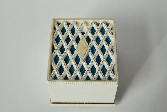 Retro Engagement Ring Box, Vintage Diamond Ring Box, 1960's Mad Men Ring Box, Valentines Gift