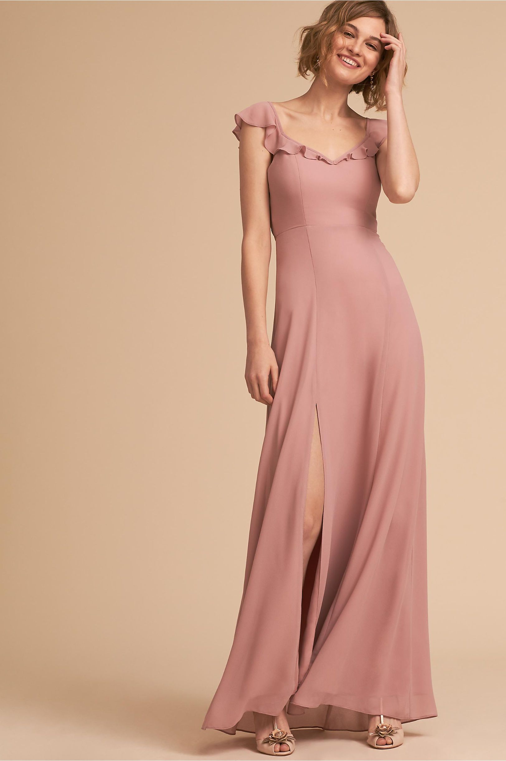 BHLDN Diana Dress Nude in Bridal Party | BHLDN | Bridesmaid Dresses ...
