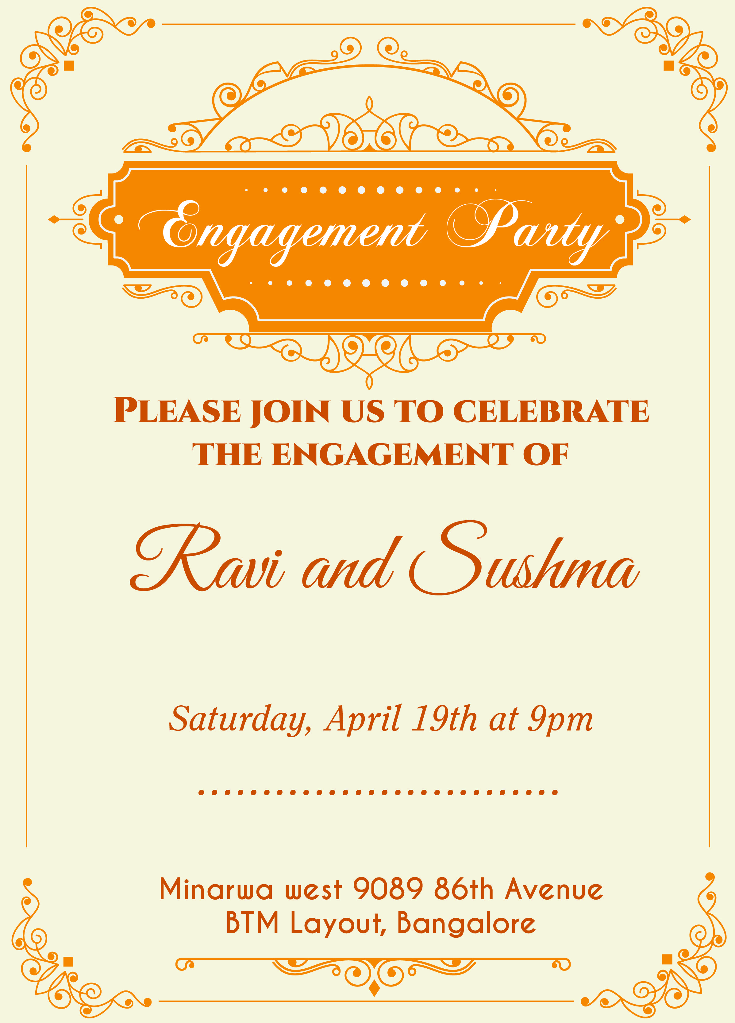 Indian Engagement invitation card with wordings Check it ...