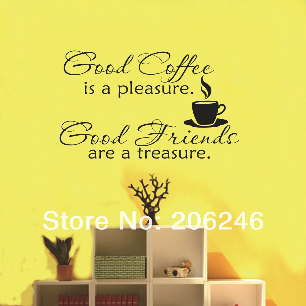 Hot Sale 2014 New Design-Good Coffee Friends Wall Vinyl Sticker ...