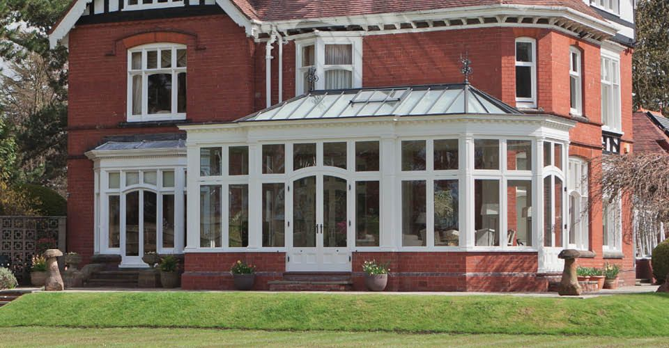 Charming Bay Fronted Edwardian Conservatory Complements This Property In The West Midlands Vale Garden Houses Victorian Conservatory Edwardian Conservatory Edwardian House
