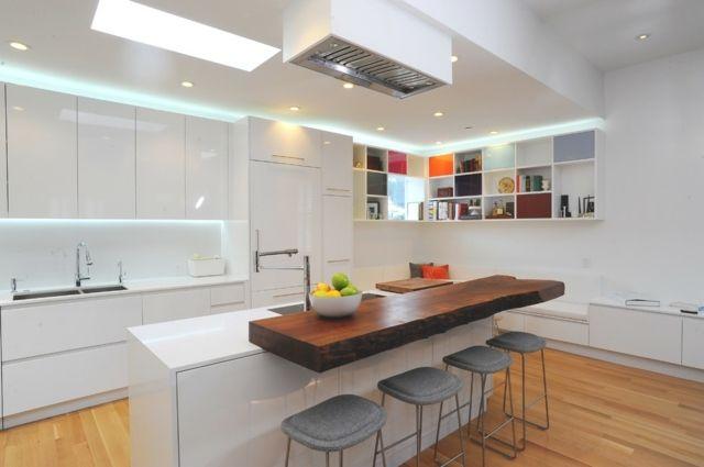 Moderne weiße küche  weisse küche holz - Google Search | Küche | Pinterest | Küche holz ...