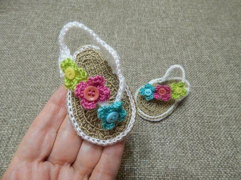 e90809d4cc3 TUTO DMC - Les tongs au crochet pour bébé (Partie 1) Je vous propose dans  cette vidéo de réaliser des petites tongs au crochet pour bébé (Pointure 18  - 6 9 ...