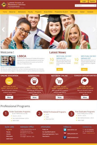 Free Education Website Template from i.pinimg.com