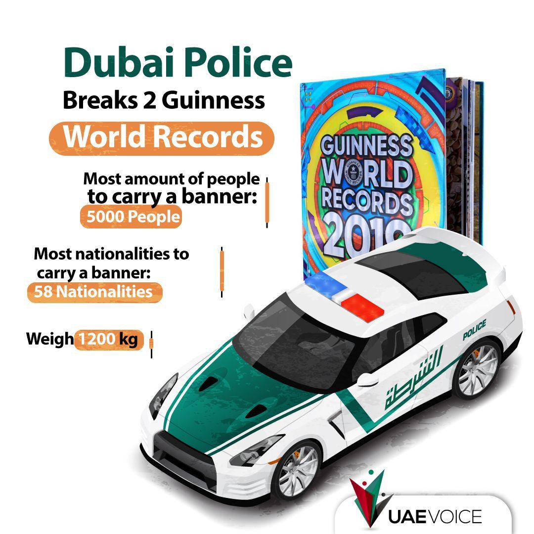 Dubai Police Breaks 2 Guinness World Records Guinness World Records World Records Guinness World