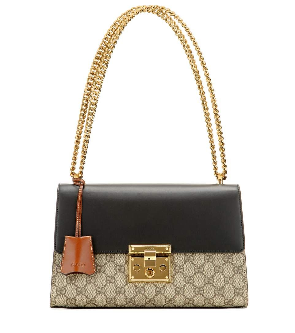 90f4b393cf93ad GUCCI Padlock Gg Supreme Medium Leather And Coated Canvas Shoulder Bag. # gucci #bags #shoulder bags #cashmere #canvas #suede #lining #