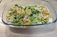 Putenschnitzel in Käse - Lauch - Sauce mit Rösti überbacken #blätterteigrosenmitapfel