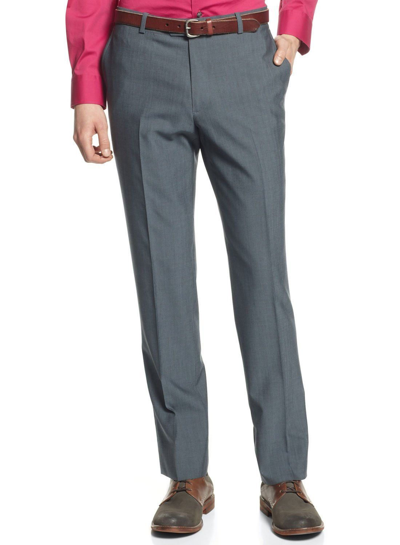 Bar III Slim Fit Pants Flat Front Navy Wool Blend New Men's Suit Sep. (30W x 30L)