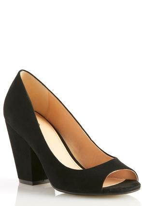 7559e60d82e Cato Fashions Wide Width Block Heel Pumps #CatoFashions | Shoes We ...