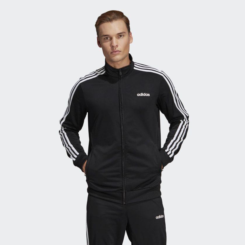 adidas Essentials 3 Stripes Track Jacket Grey | adidas