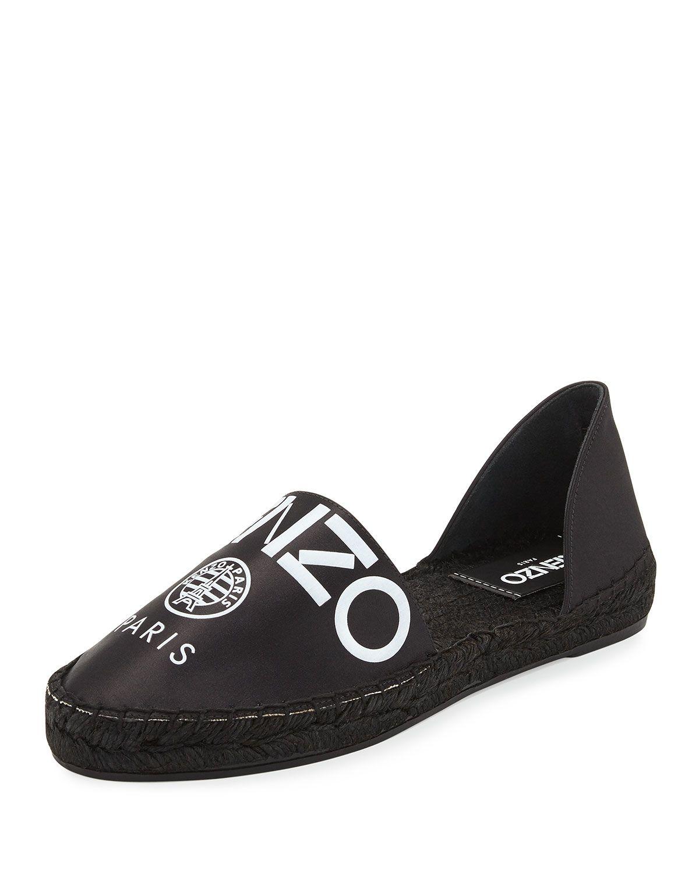 c47f0b81ef Logo Satin D'Orsay Espadrille Flat Black | *Apparel & Accessories ...