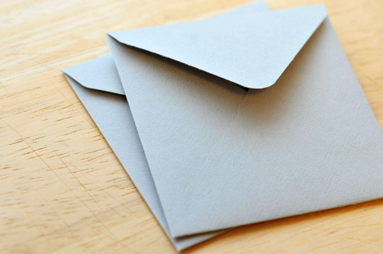 Mini Envelopes Gray Set of 10 Gift Card Envelope Business