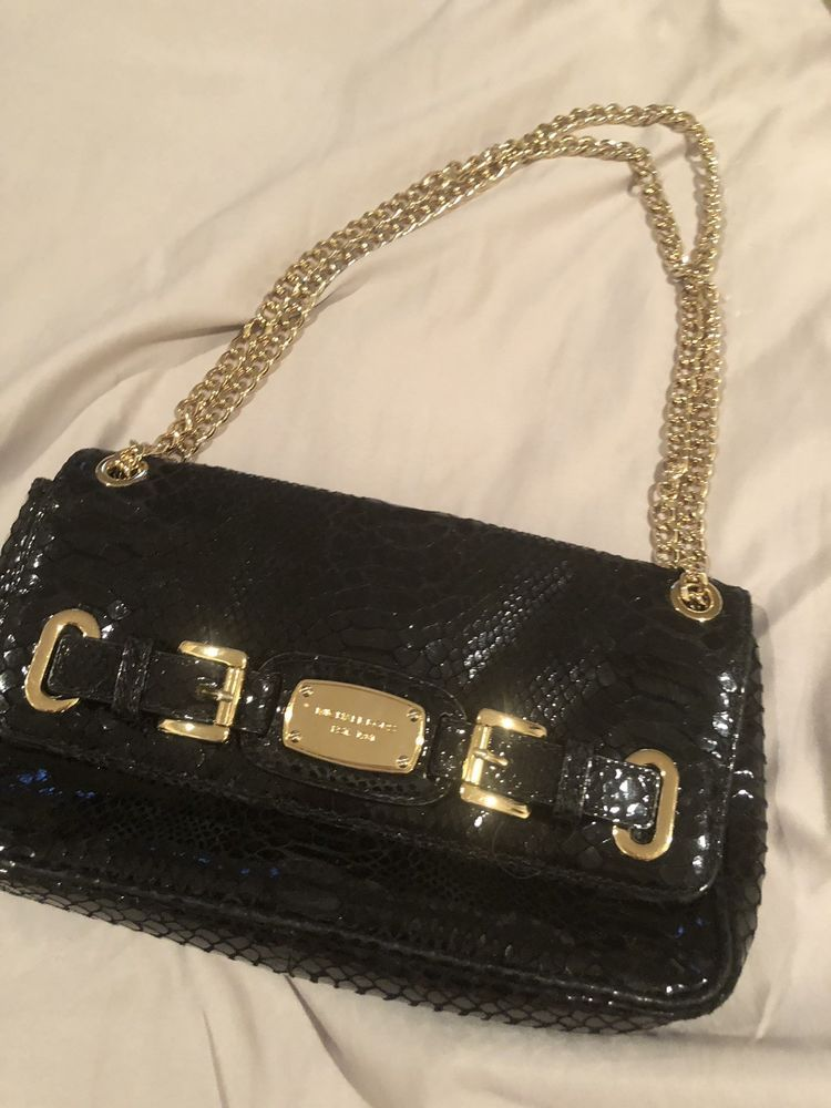 Michael Kors Black And Gold Small Shoulder Bag  fashion  clothing  shoes   accessories  womensbagshandbags (ebay link) bec585248edd9