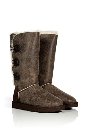 ugg australia chocolate natural bailey button triplet bomber boots rh pinterest com