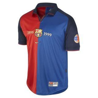 a0fdaacf14f Retro 1999 FC Barcelona Centenary Patrick Kluivert 9 Home Soccer ...