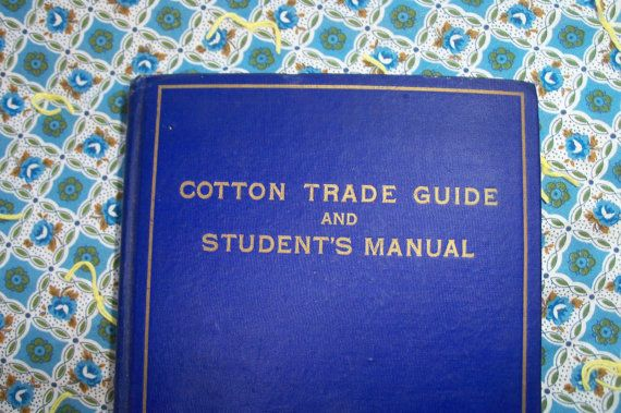 Book Cotton Trade Guide & Trade Manual 1916 by AntiquesandVaria, $28.20