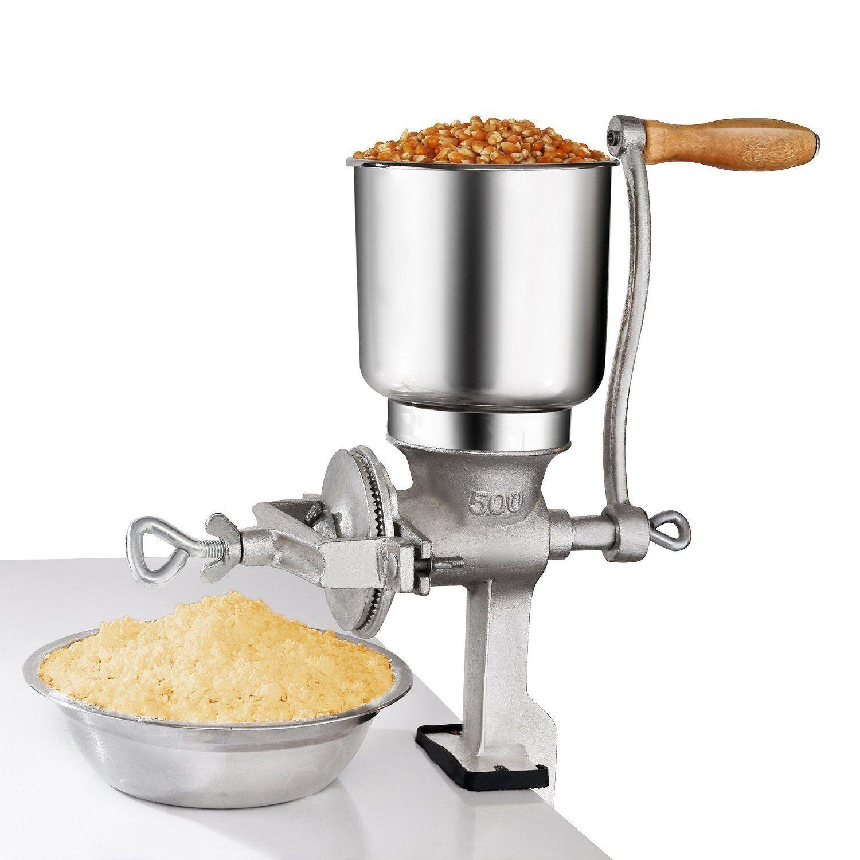 Tall Cast Iron Mill Grinder Hand Crank Manual Grains Corn Wheat Coffee Nut Mill
