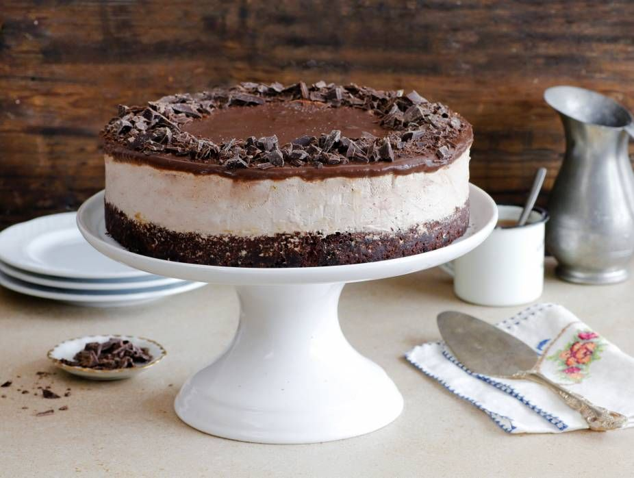 Flourless Chocolate Coffee Ice Cream Cake   Recipe   Coffee ice cream cake, Flourless chocolate ...