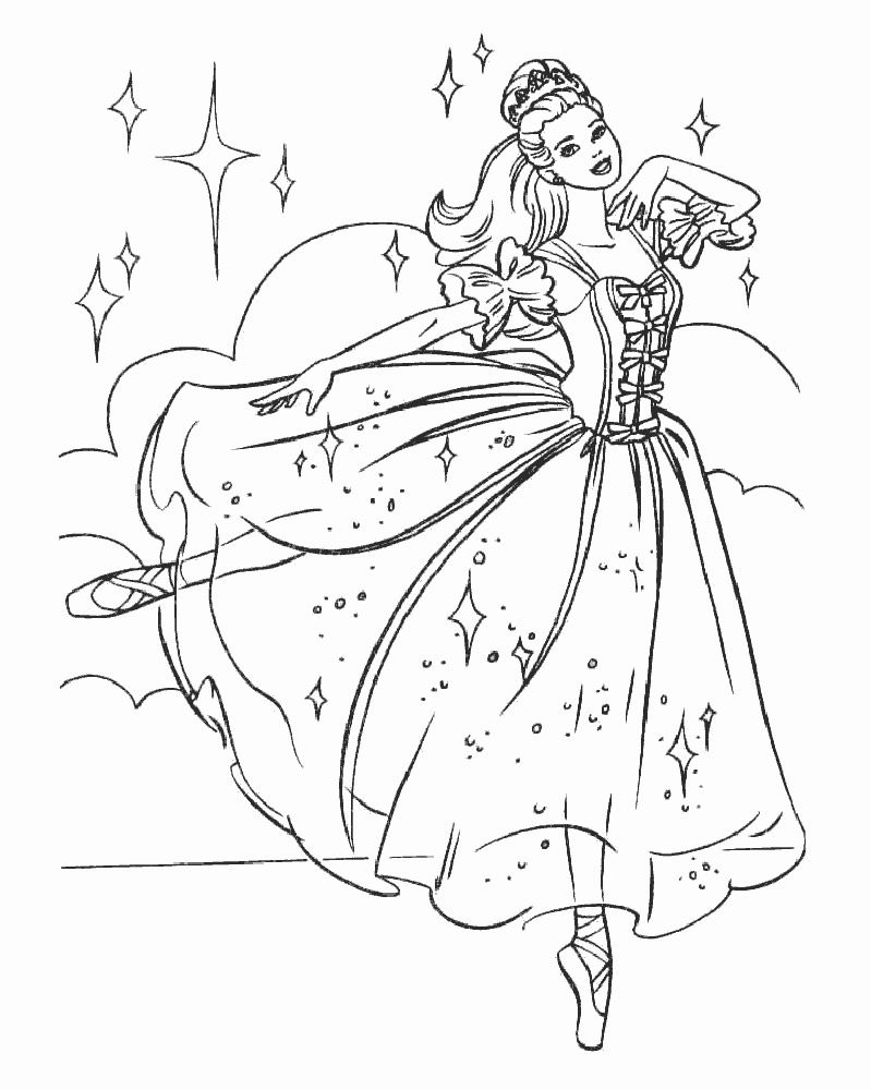 Ballerina Coloring Pages With Ballerina Kristyn Is Training