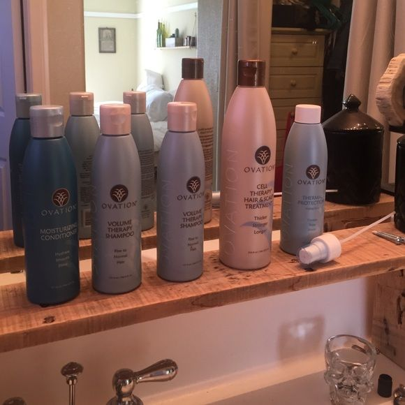 Ovation Hair Therapy Set Moisturizing Conditioner Used Once Volume Shampoo X 2