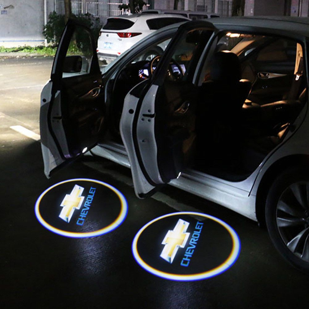 2x Wireless Led Courtesy Car Door Step Laser Welcome Ghost Lights