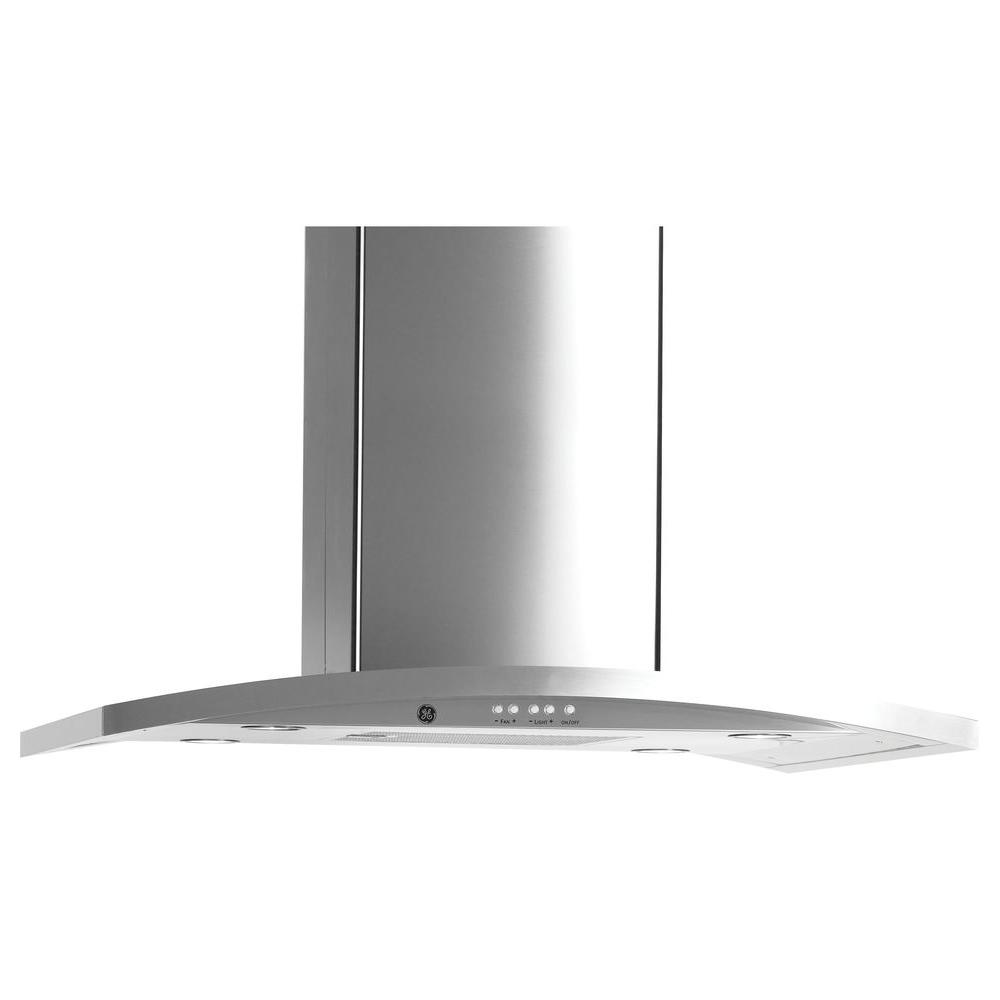 Ge Profile 36 In Designer Range Hood In Stainless Steel Silver Range Hood Double Electric Wall Oven Stainless Steel Oven