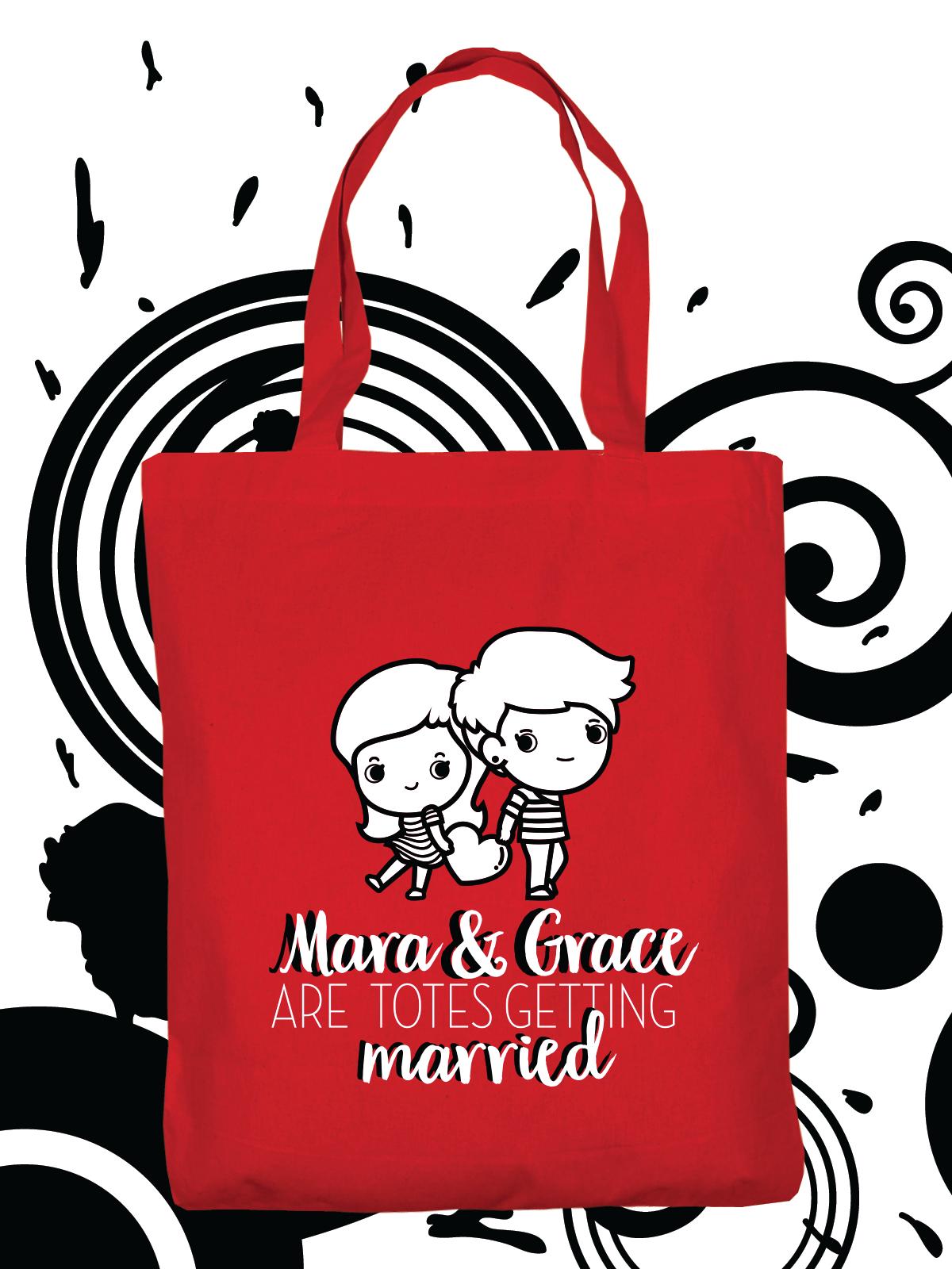 Custom tote bags for wedding, wedding favor, bridal shower