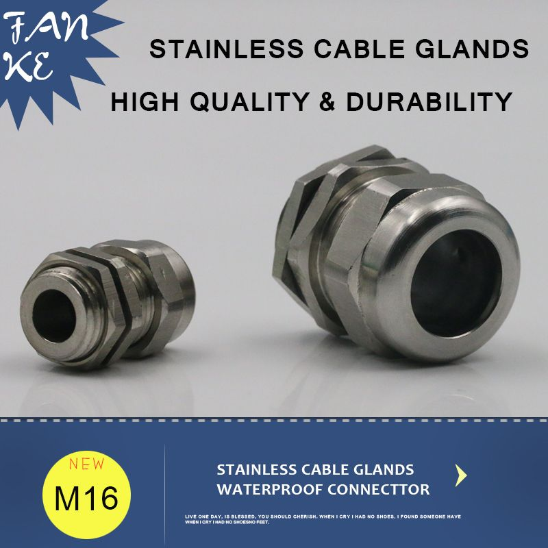 1piece M16*1.5 Cable Gland Stainless Steel Wire Rope Connector IP68 ...