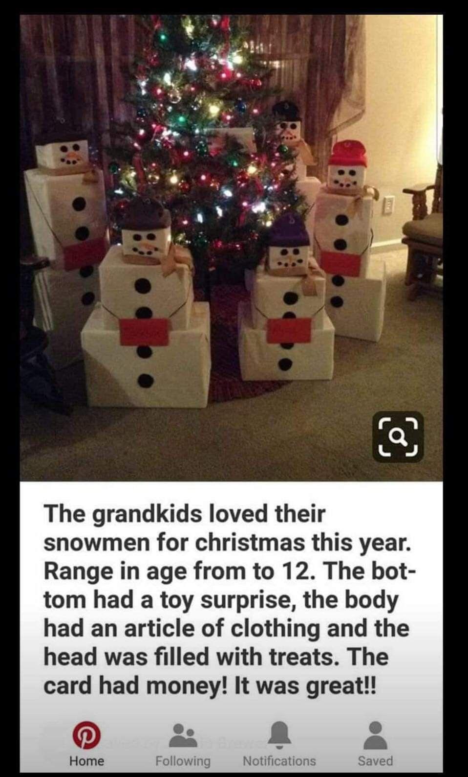 Snowman Presents Holiday Christmas Christmas Wrapping