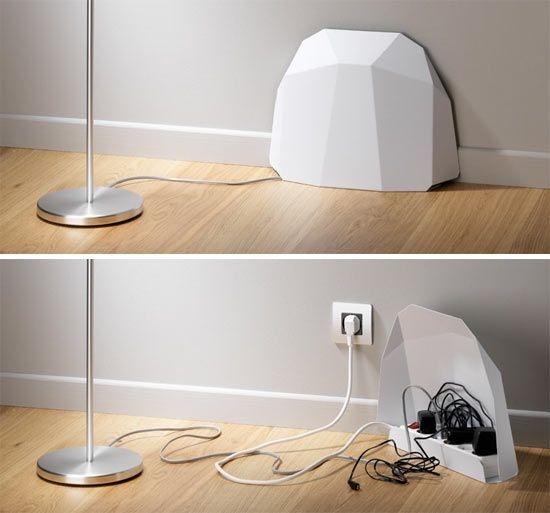 KVISSLE Cable management box, cork, white Cable management box - cable d alimentation electrique pour maison