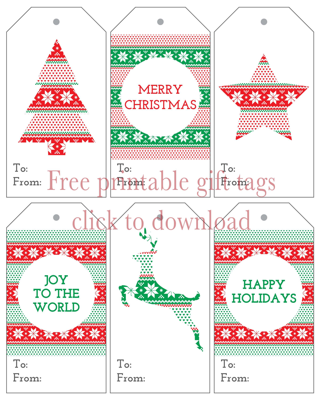 Six Christmas T Tags