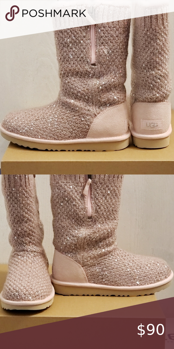 Ugg Sequin Knit Kids Size 3 In 2020 Uggs Shoes Boots Uggs Boots