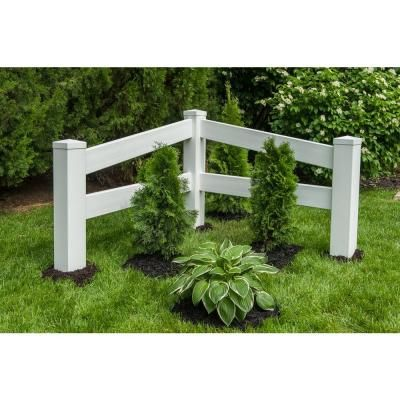 Ply Gem 4 ft. H x 4 ft. W White Vinyl Angled Fence Corner Accent Panel…