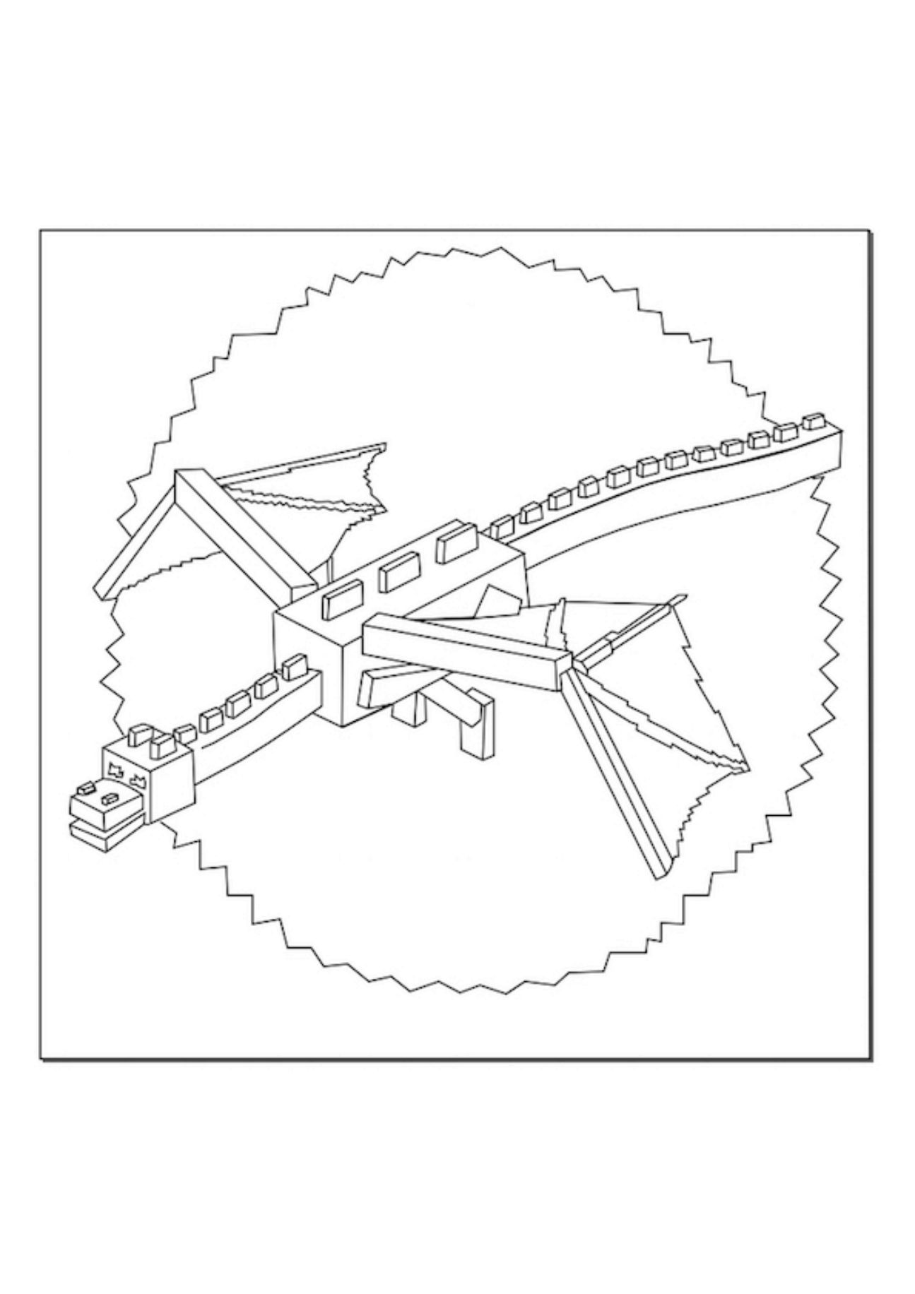 Minecraft Ender Dragon Kleurplaten.A Minecraft Ender Dragon Coloring Page Coloring Pages Minecraft