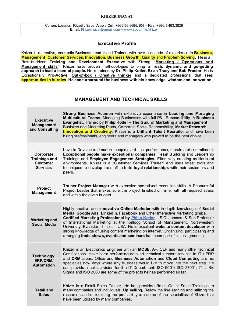 General Manager Resume, Riyadh Saudi Arabia | Work: Resumes ...