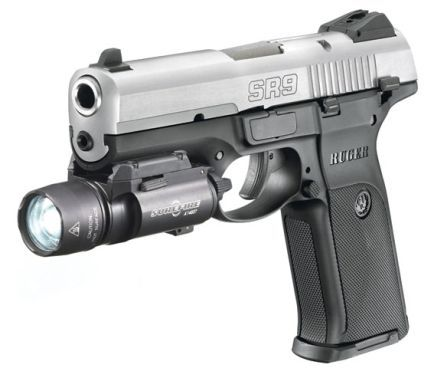 Ruger Sr9 Pistol I Have A Flashlight And Laser Combo Mounted On The
