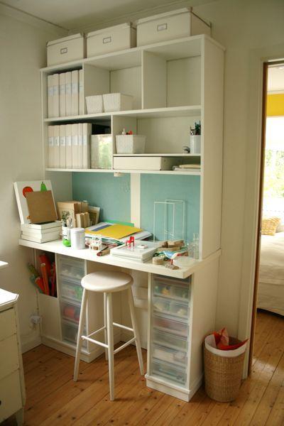 Chez Larsson Craft Corner Step By Step Craft Corner Craft Room Office Craft Storage
