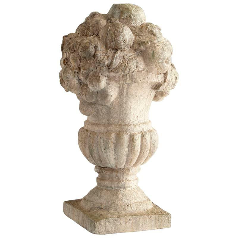Cyan Design 08689 Prairie 20 Tall Cement Statue Antique White Home Decor Accents Statues Figurines