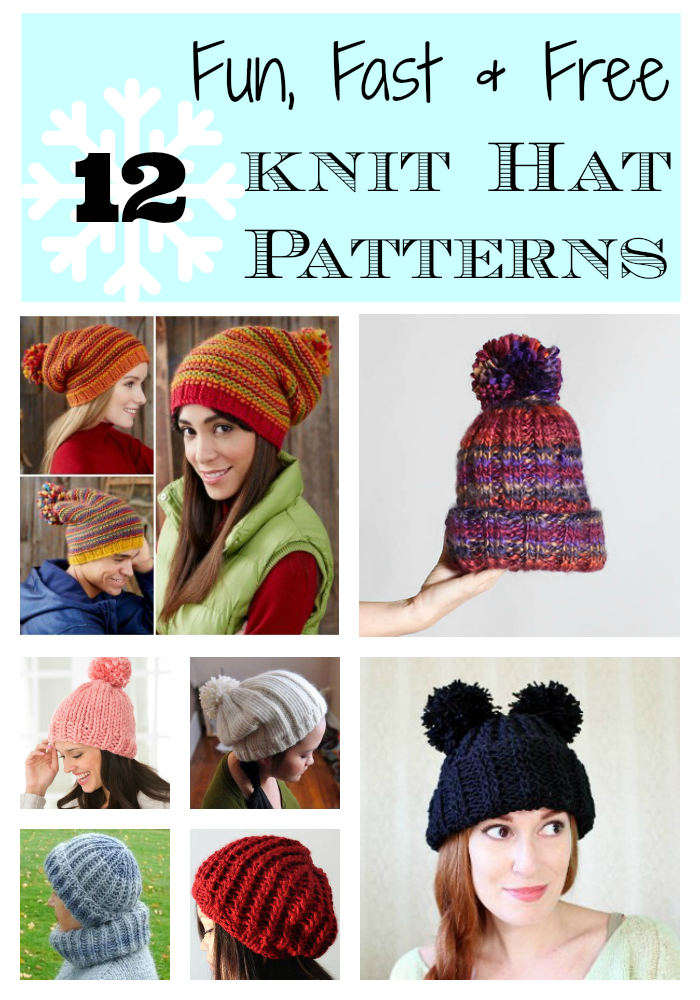 5b4eea42720 12 Lightning Fast Free Knit Hat Patterns | Share Today's Craft and ...
