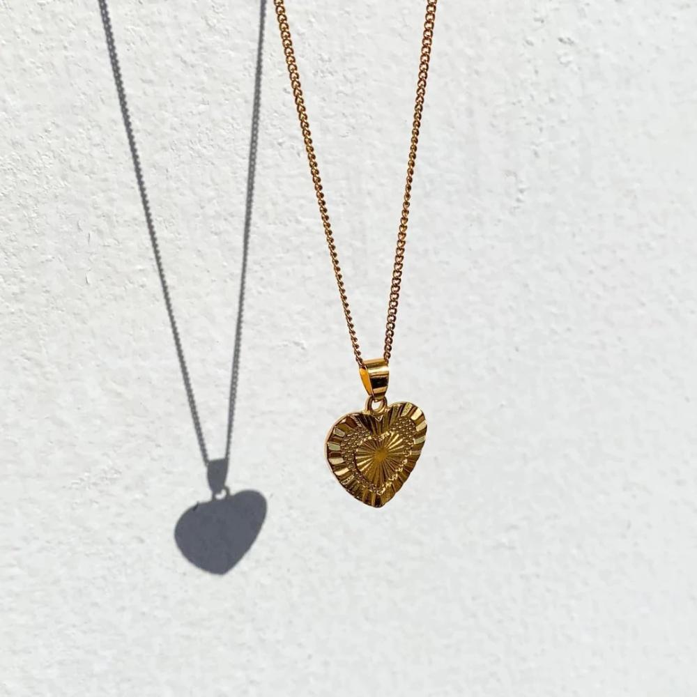 Photo of Goldene Herz Halskette