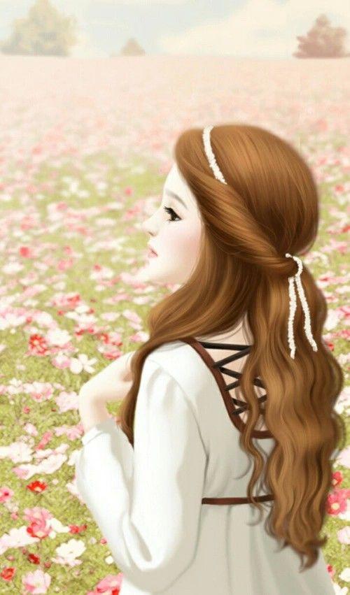 Enakei Korean Girl Painting Anime Gadis Cantik Ilustrasi