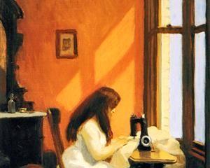 Girl at a Sewing Machine - Edward Hopper