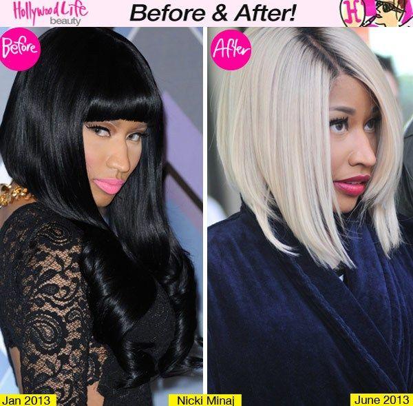 Blonde Beauty Nicki Minaj Rocks A New Bob Hairstyle Look Nicki