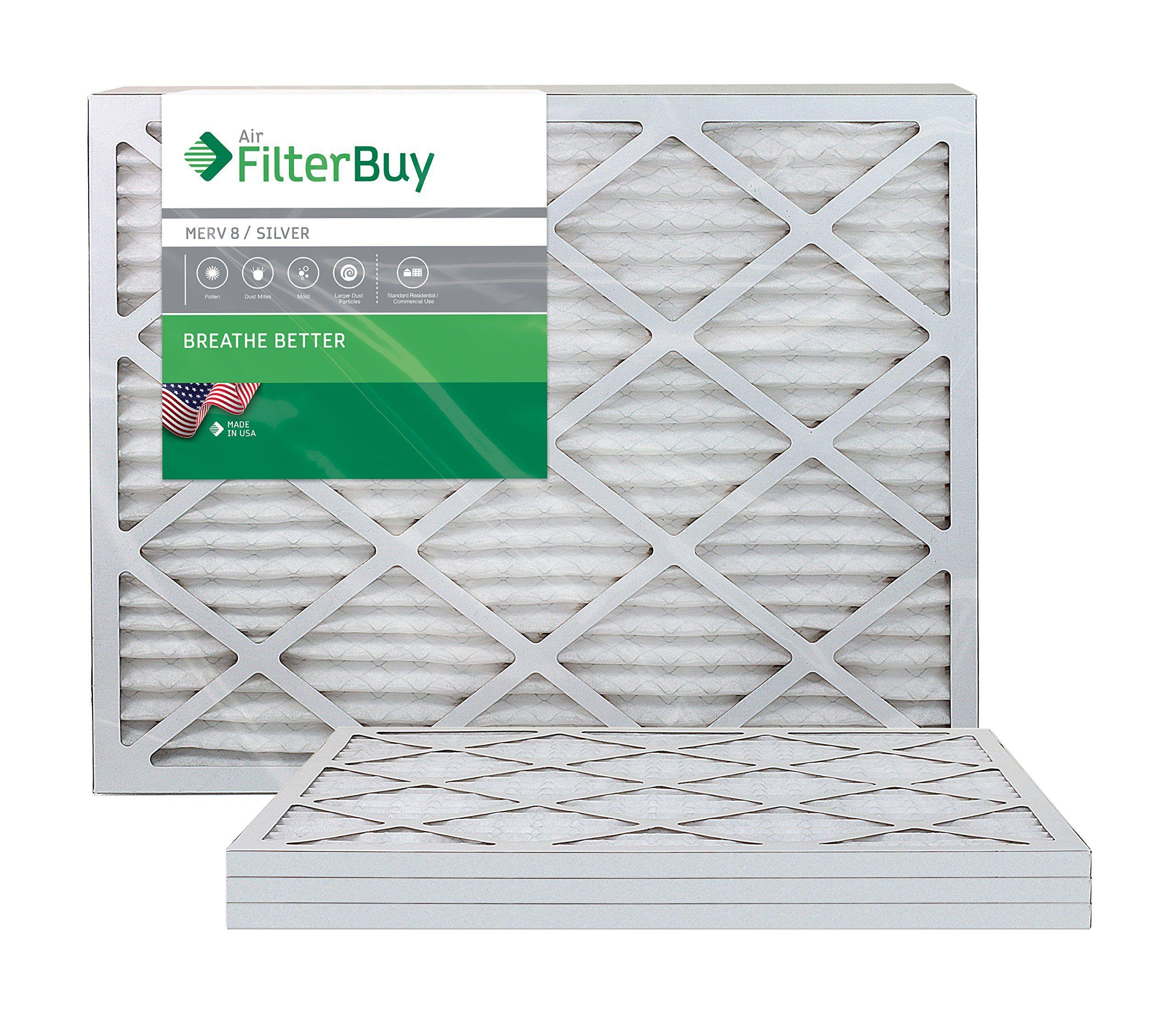 FilterBuy 24x24x1 MERV 8 Pleated AC Furnace Air Filter